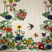Tule Bordado D. Birds Babilônia