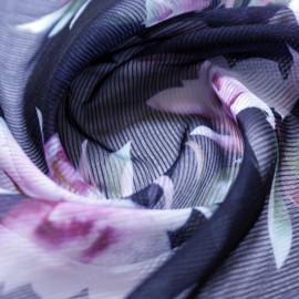 Chiffon Dobby Stripe E. Floral Gueixa