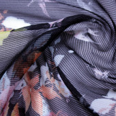 Chiffon Dobby Stripe E. Bouquet de Pássaros