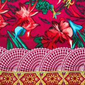 New Spring Rayon E. Barrado Floral Leque